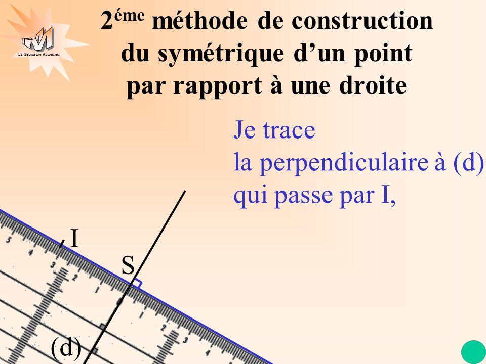 2éme méthode de construction du symétrique d'un point par rapport à une droite