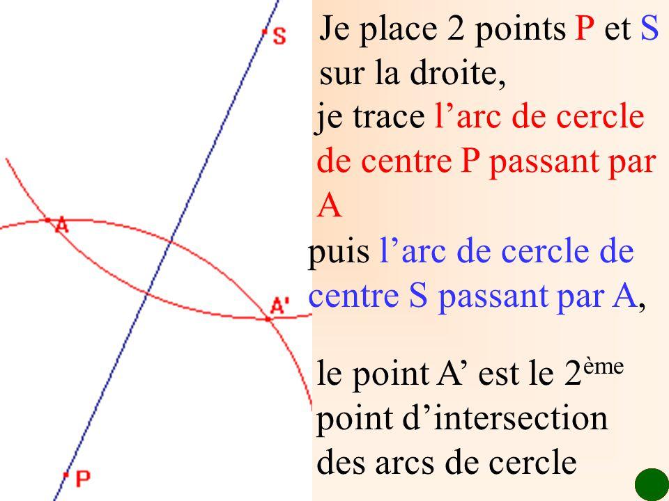 Je place 2 points P et S sur la droite,