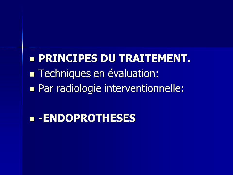 PRINCIPES DU TRAITEMENT.