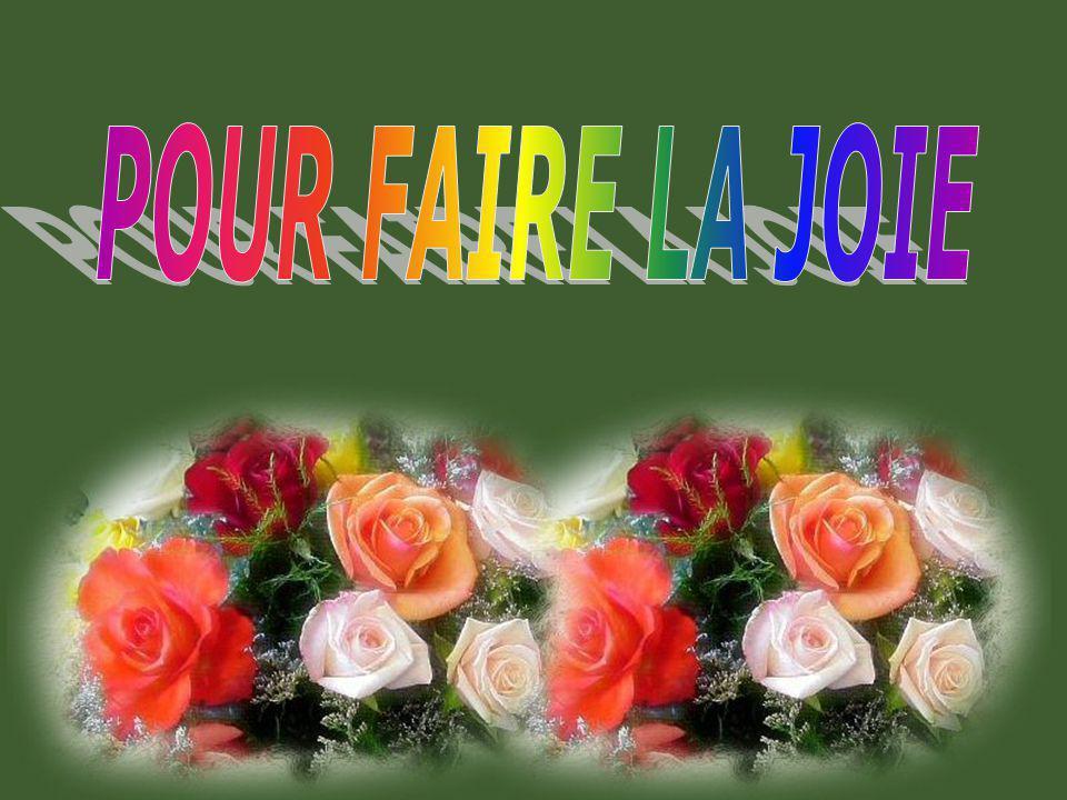 POUR FAIRE LA JOIE