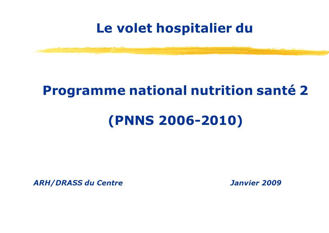Le volet hospitalier du Programme national nutrition santé 2