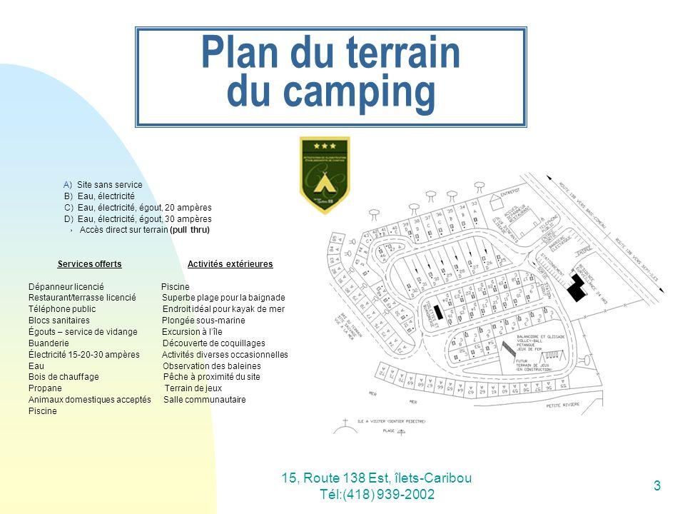Plan du terrain du camping