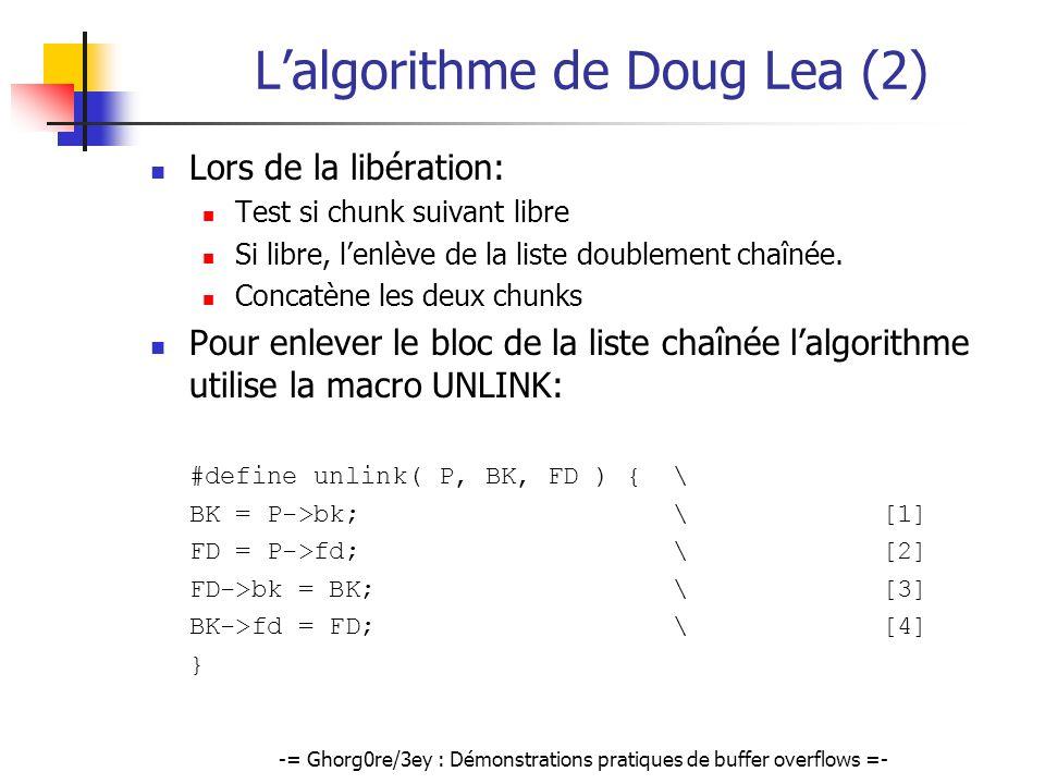 L'algorithme de Doug Lea (2)