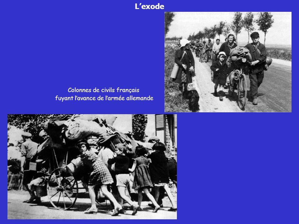 L'exode Colonnes de civils français