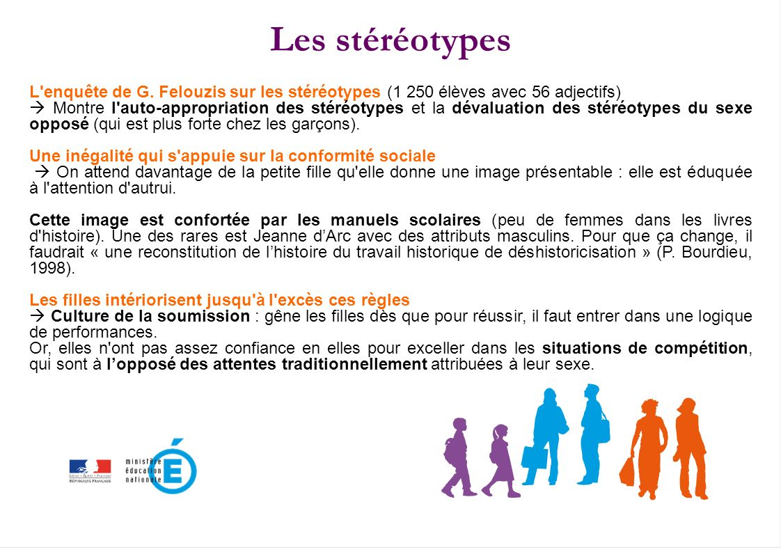 Les stéréotypes Les stéréotypes