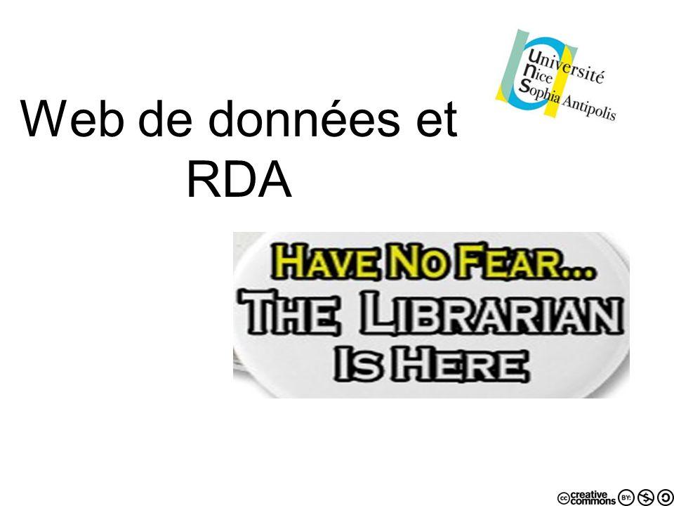 Web de données et RDA