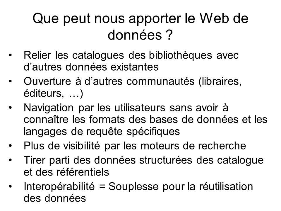 Que peut nous apporter le Web de données