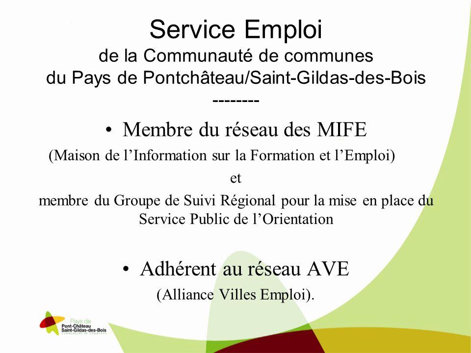 Service Emploi de la Communauté de communes du Pays de Pontchâteau/Saint-Gildas-des-Bois --------