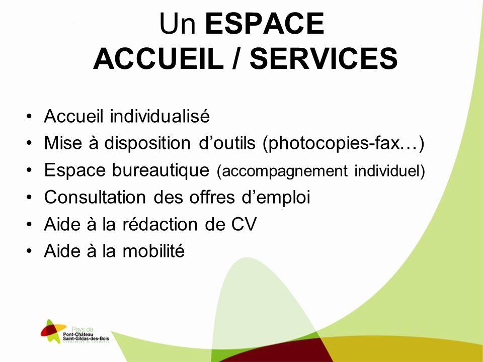 Un ESPACE ACCUEIL / SERVICES