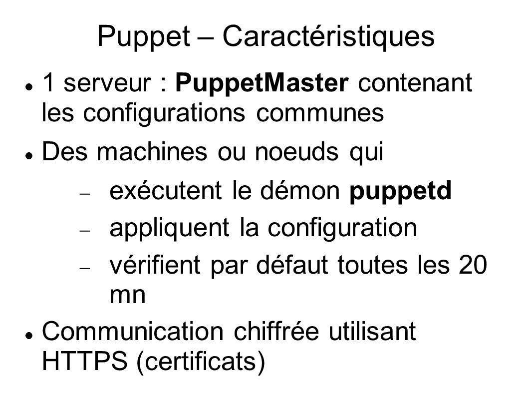 Puppet – Caractéristiques