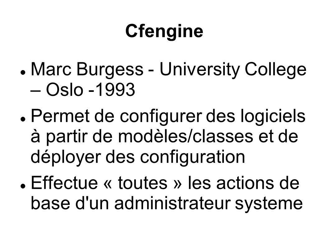 Cfengine Marc Burgess - University College – Oslo -1993.