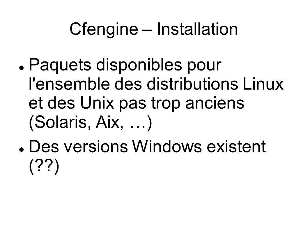 Cfengine – Installation