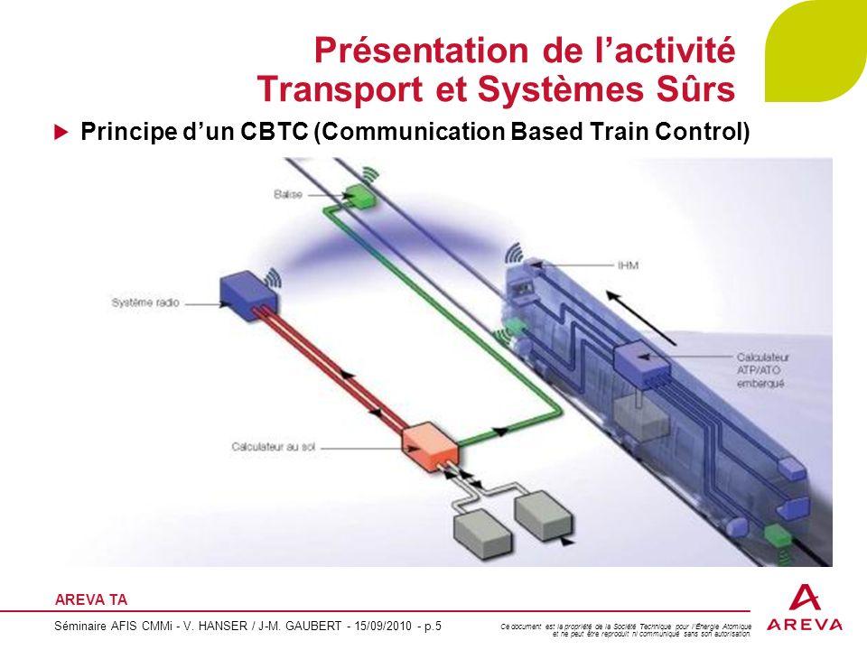 Présentation de l'activité Transport et Systèmes Sûrs