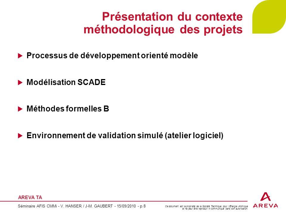 Présentation du contexte méthodologique des projets
