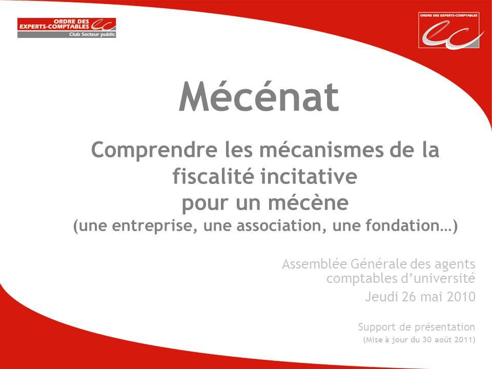 Mécénat Comprendre les mécanismes de la fiscalité incitative pour un mécène (une entreprise, une association, une fondation…)