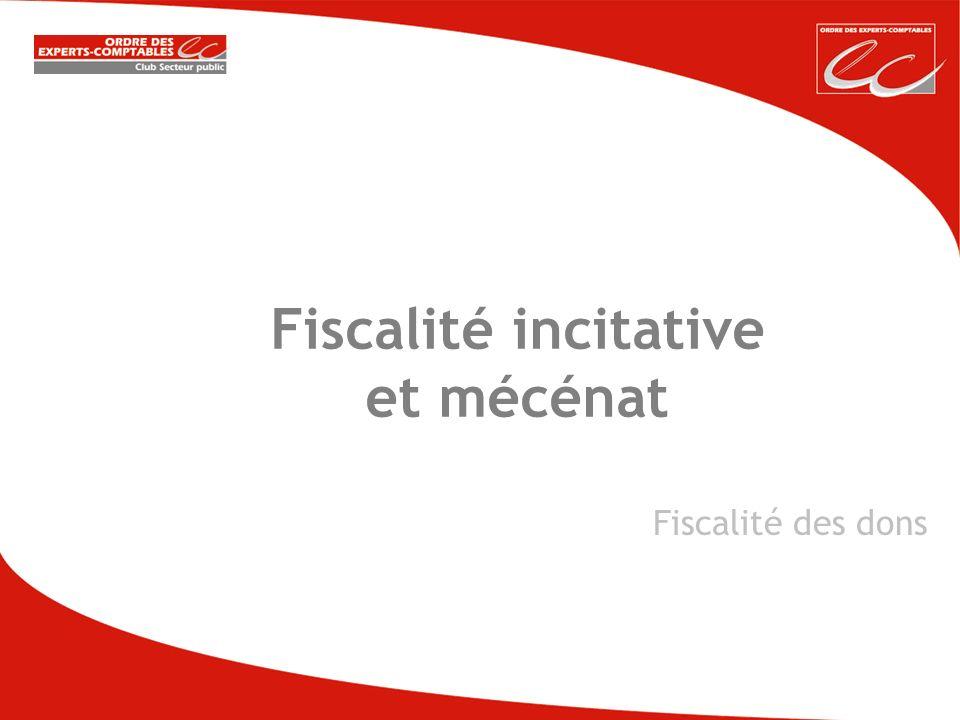 Fiscalité incitative et mécénat