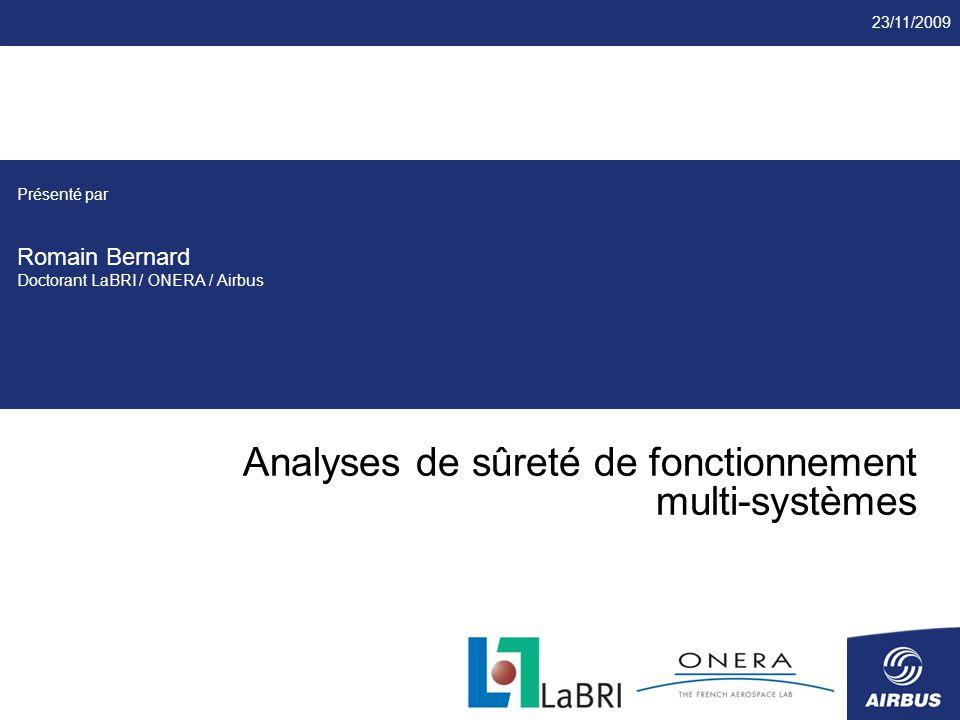 Analyses de sûreté de fonctionnement multi-systèmes