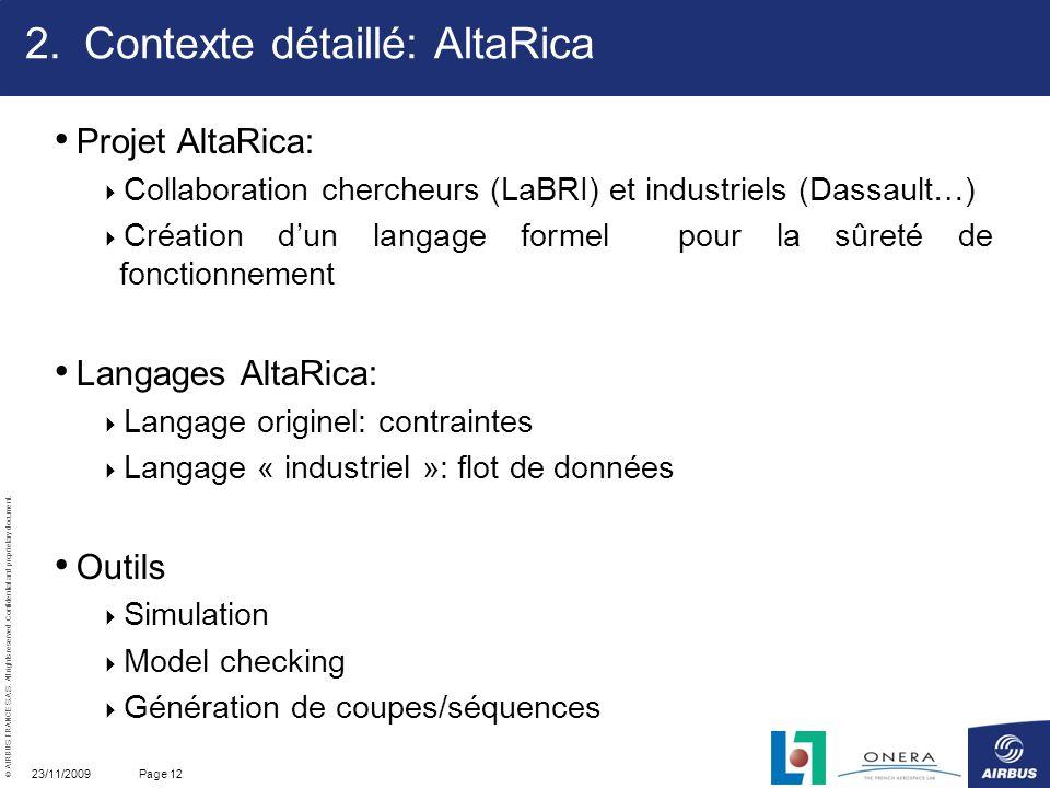 Contexte détaillé: AltaRica