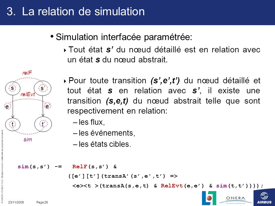 La relation de simulation