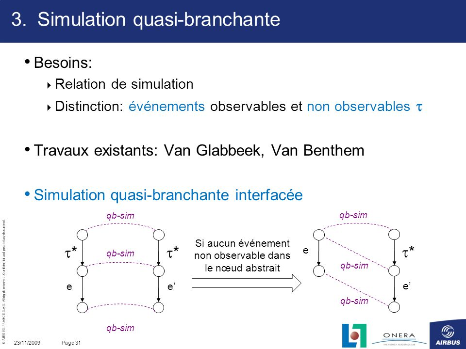 Simulation quasi-branchante