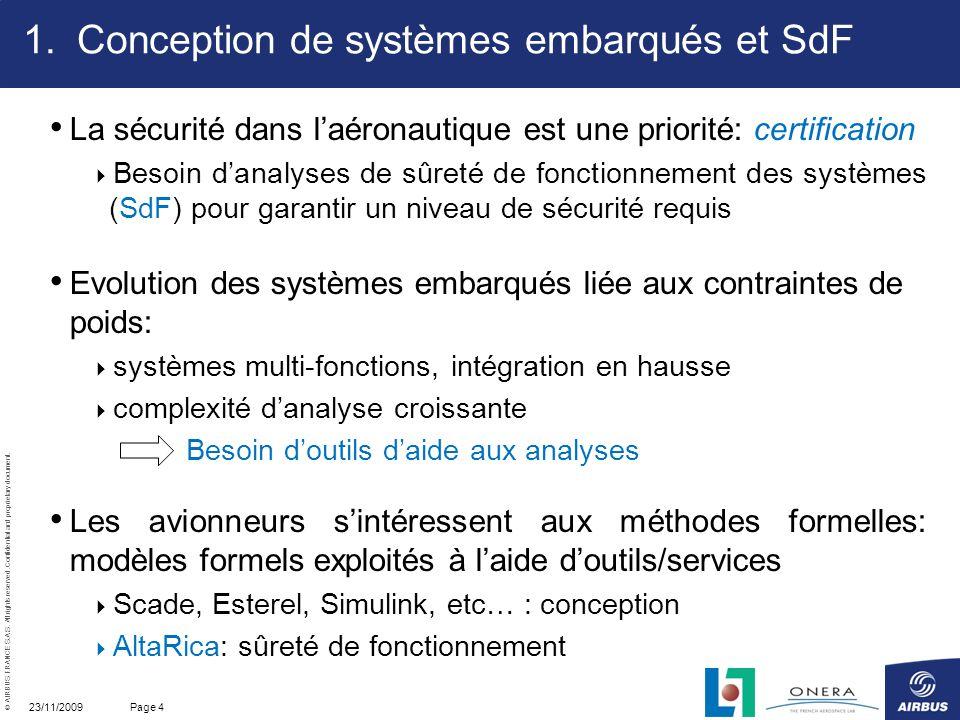 Conception de systèmes embarqués et SdF