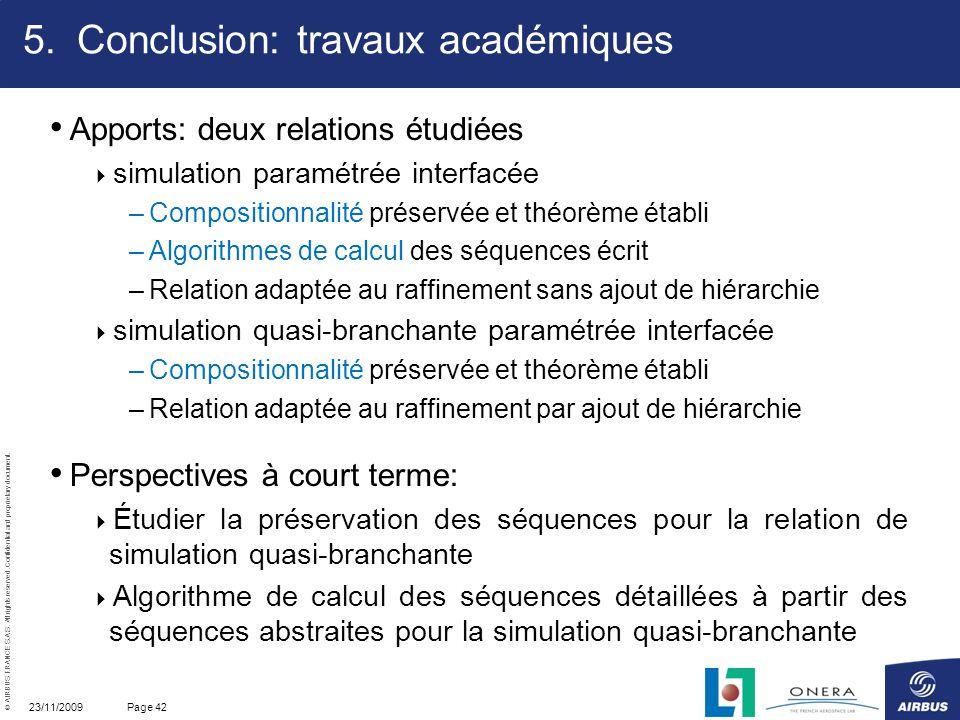 Conclusion: travaux académiques