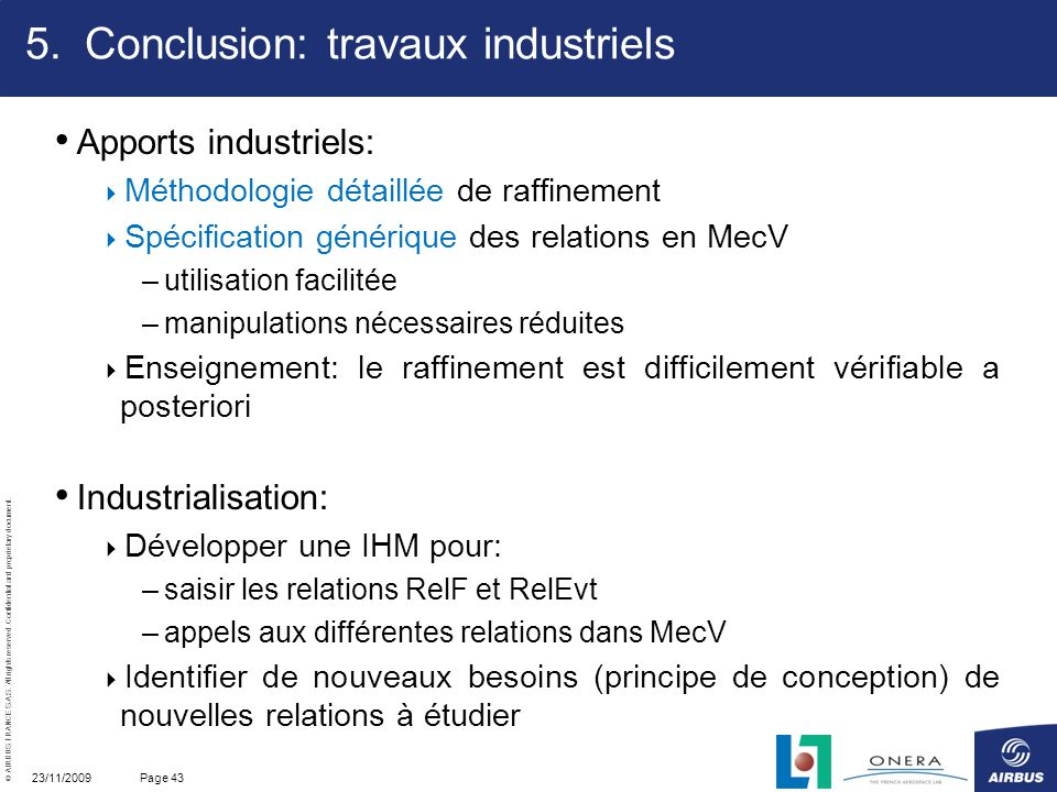 Conclusion: travaux industriels