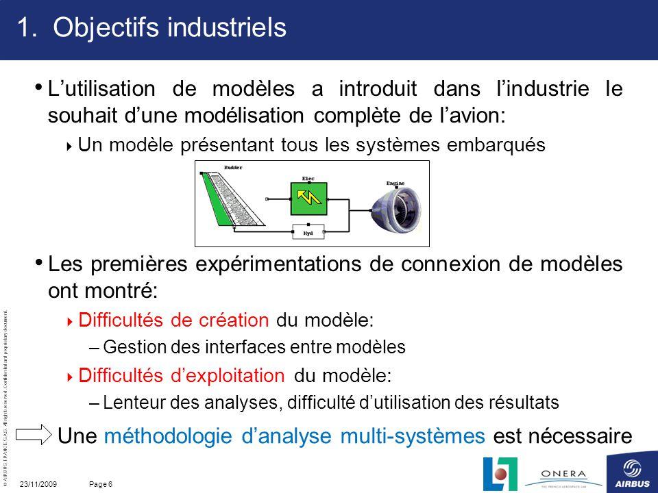 Objectifs industriels