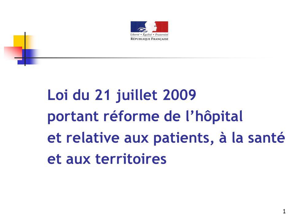portant réforme de l'hôpital et relative aux patients, à la santé
