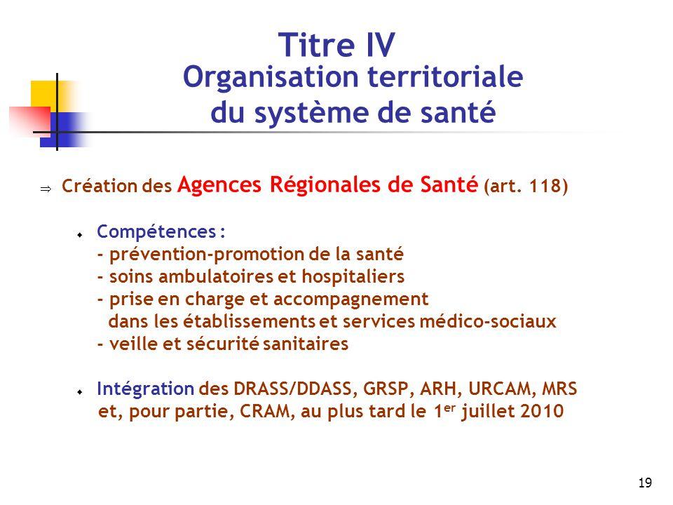 Organisation territoriale
