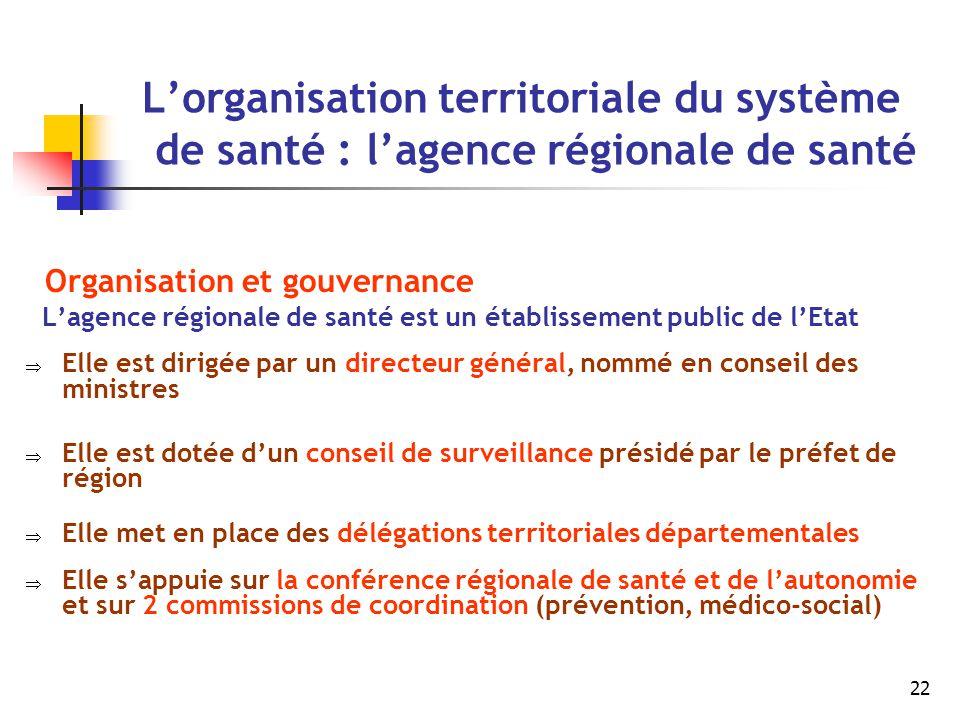 L'organisation territoriale du système de santé : l'agence régionale de santé