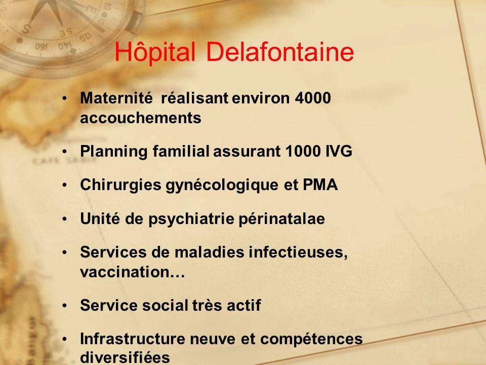 Hôpital Delafontaine Maternité réalisant environ 4000 accouchements