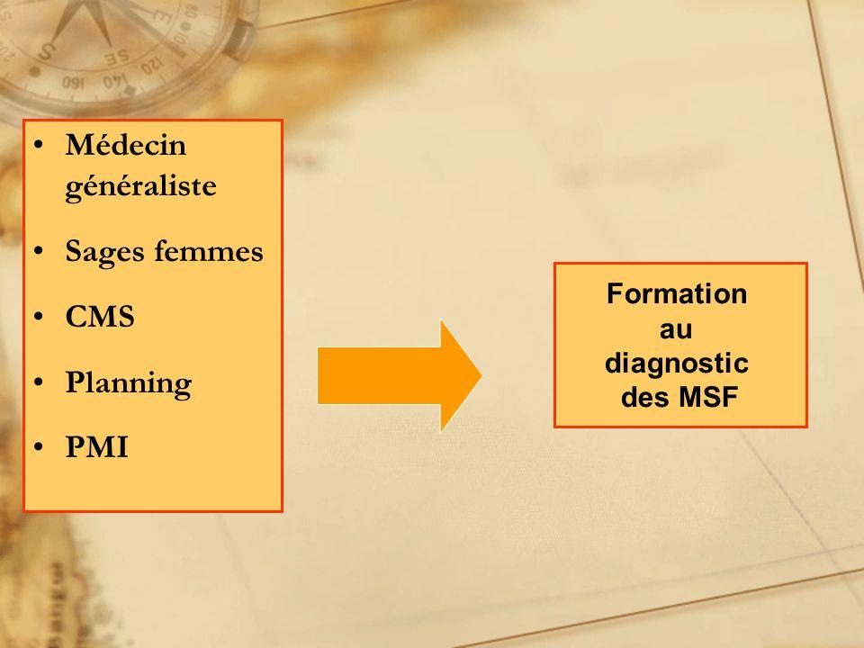 Médecin généraliste Sages femmes CMS Planning PMI Formation au