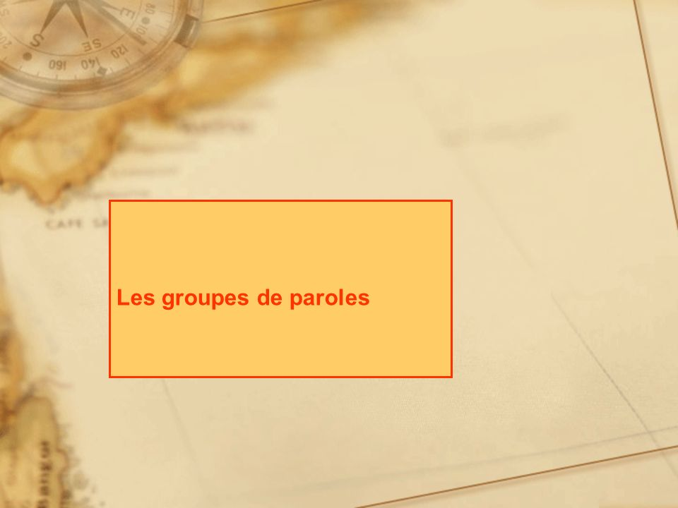 Les groupes de paroles