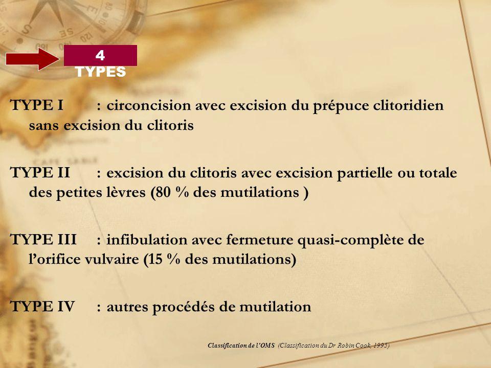 TYPE IV : autres procédés de mutilation