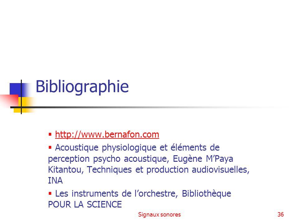 Bibliographie http://www.bernafon.com