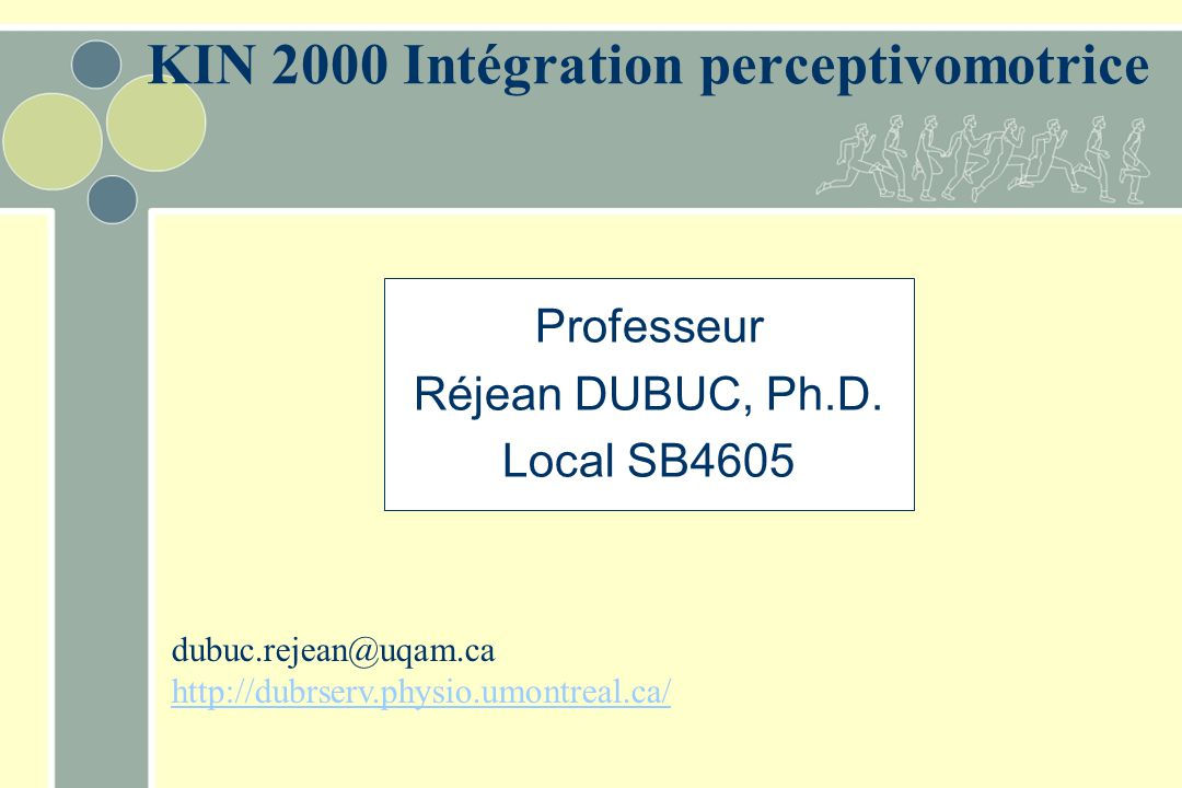 KIN 2000 Intégration perceptivomotrice