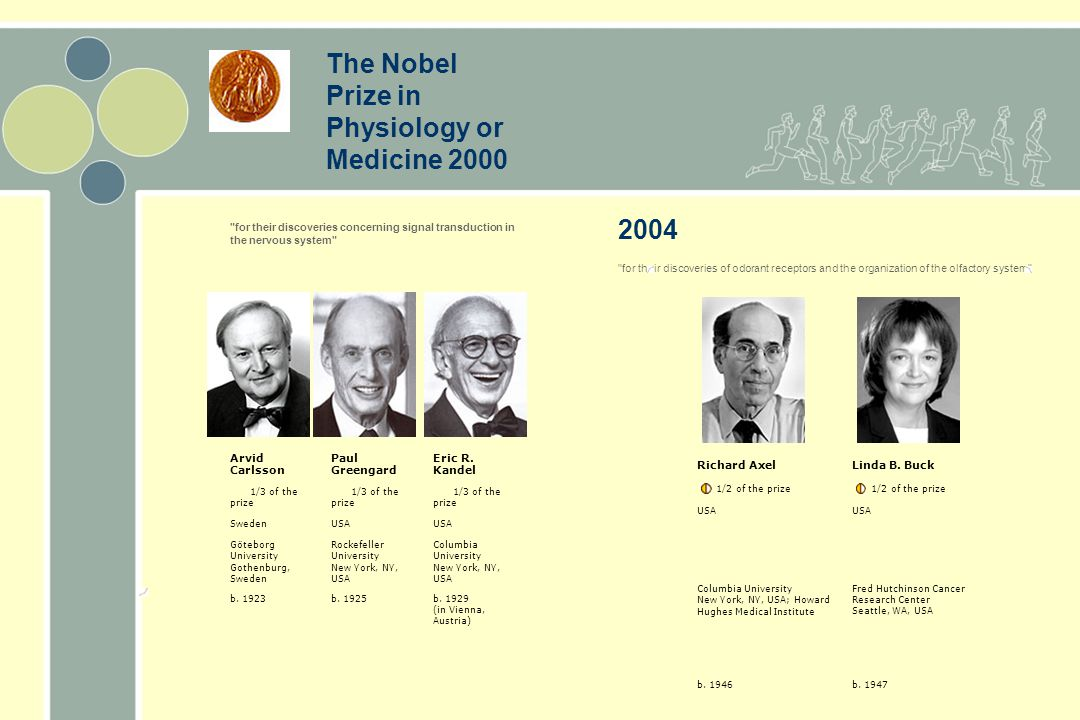 The Nobel Prize in Physiology or Medicine 2000 2004