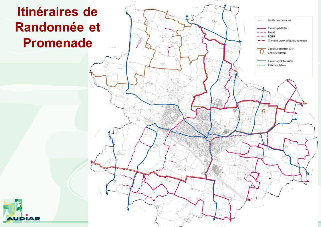Itinéraires de Randonnée et Promenade