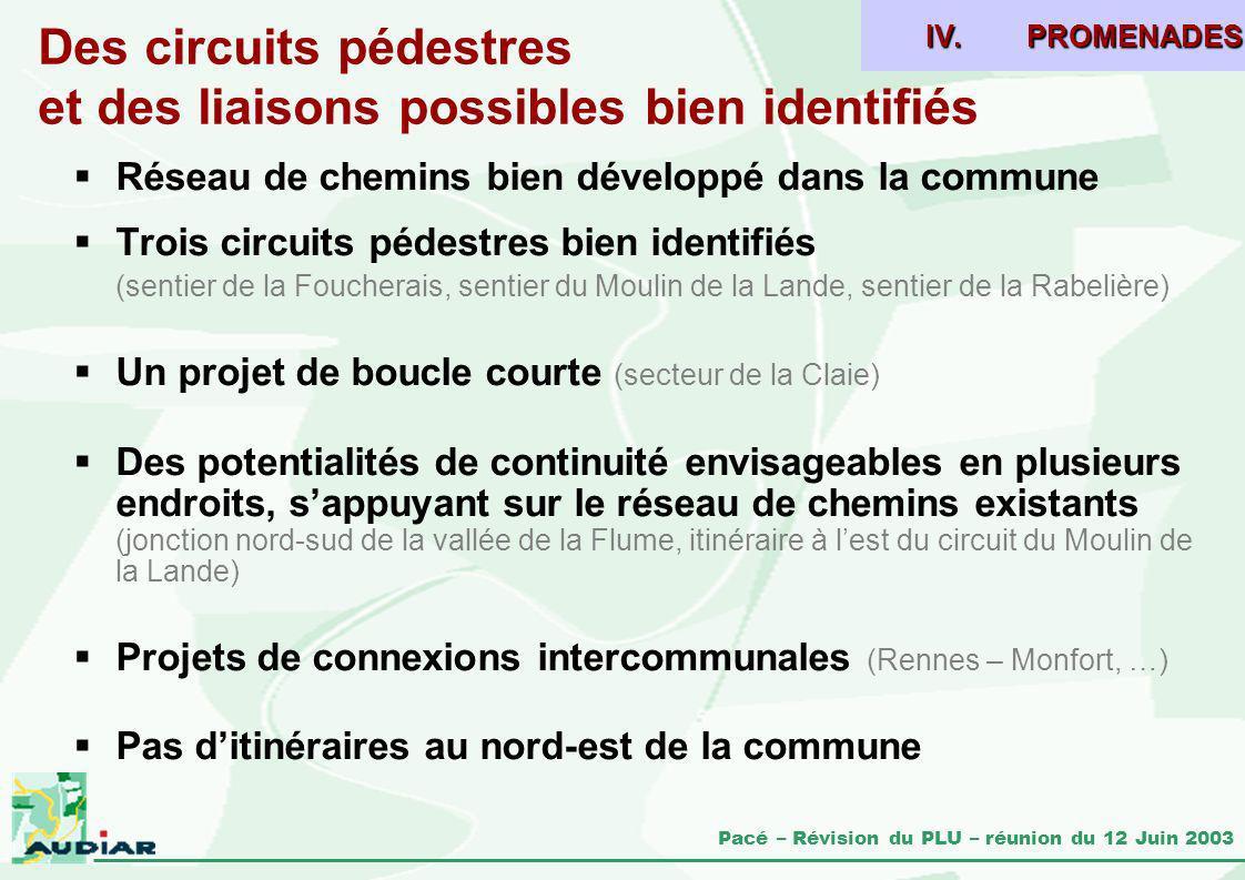 Des circuits pédestres et des liaisons possibles bien identifiés