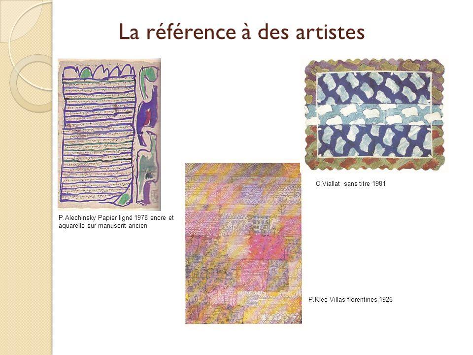 La référence à des artistes