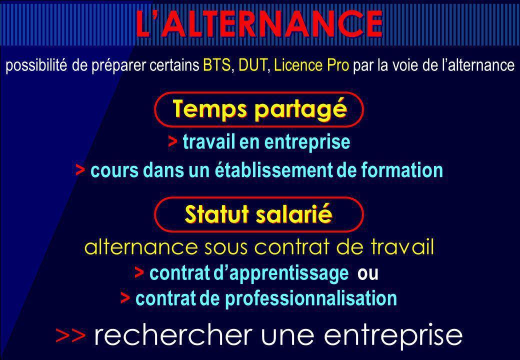 L'ALTERNANCE >> rechercher une entreprise