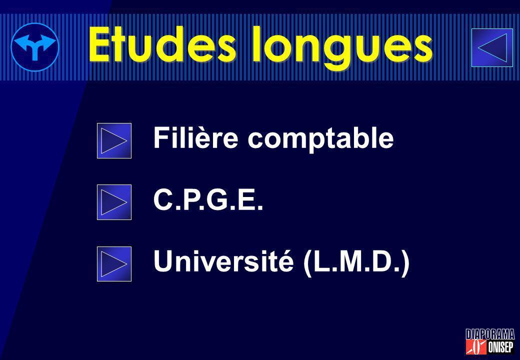 Etudes longues Filière comptable C.P.G.E. Université (L.M.D.)