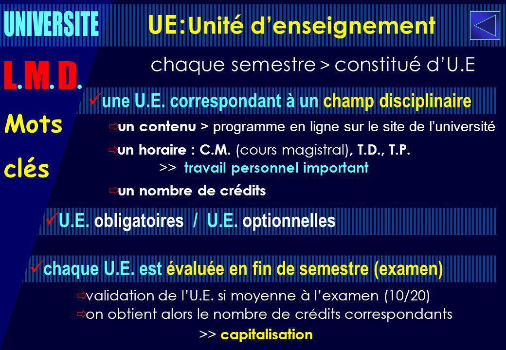 UE : Unité d'enseignement
