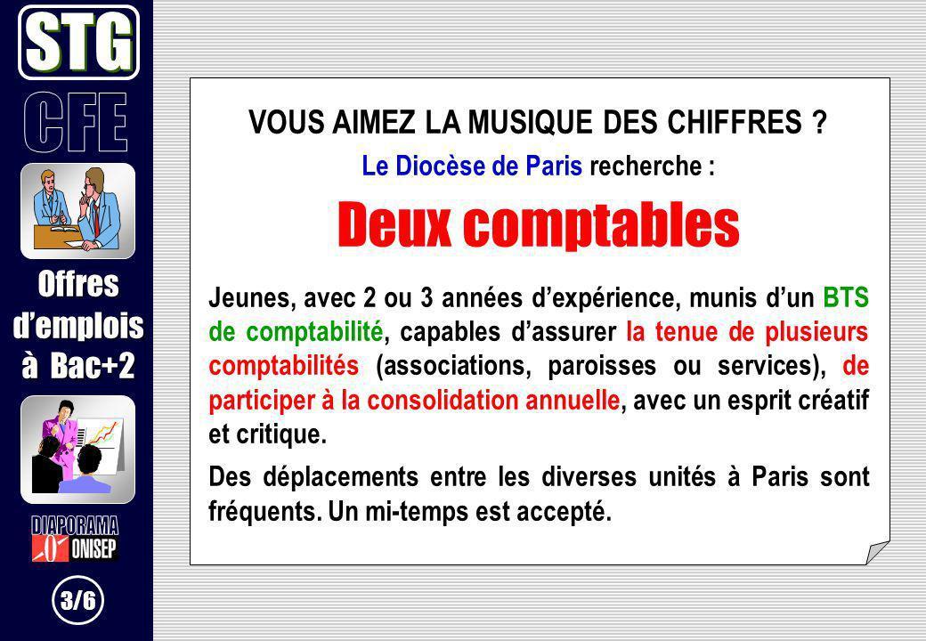 VOUS AIMEZ LA MUSIQUE DES CHIFFRES Le Diocèse de Paris recherche :