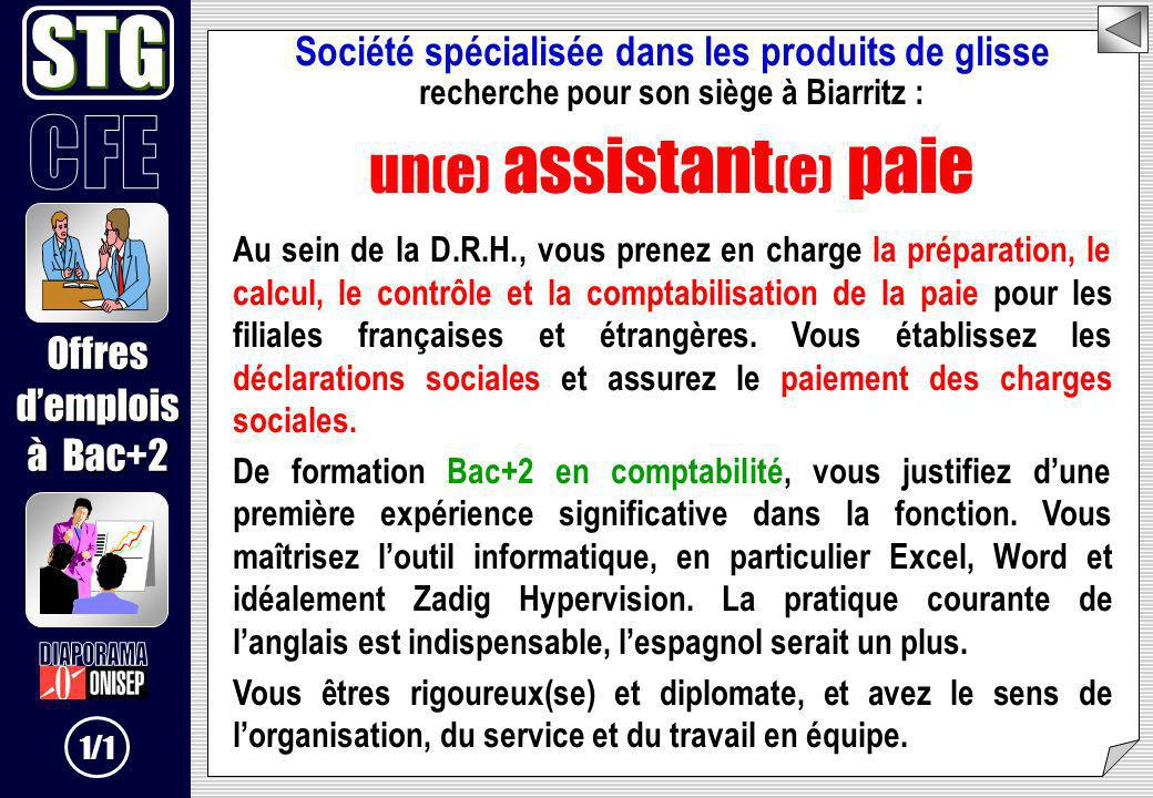 STG un(e) assistant(e) paie