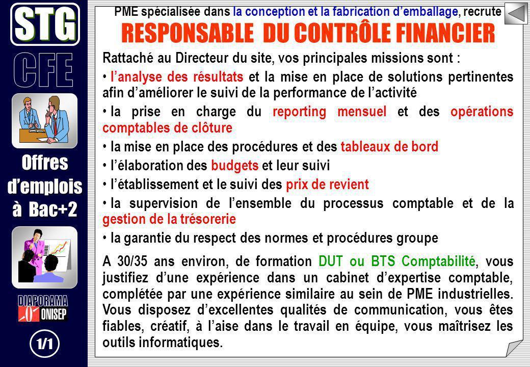 RESPONSABLE DU CONTRÔLE FINANCIER