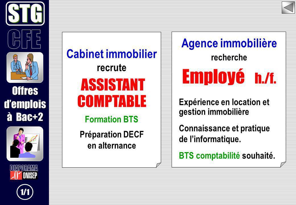 STG Employé h./f. ASSISTANT COMPTABLE