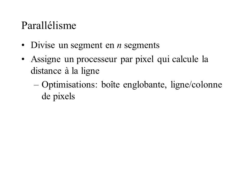 Parallélisme Divise un segment en n segments