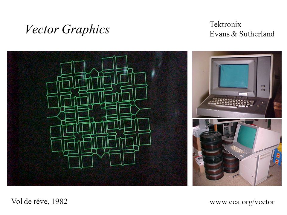 Vector Graphics Tektronix Evans & Sutherland Vol de rêve, 1982